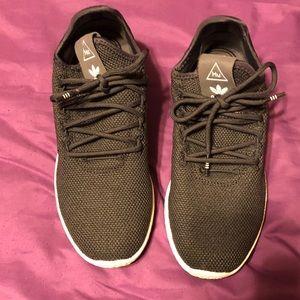 X Pharrell Williams Black & White Tennis HU Shoes